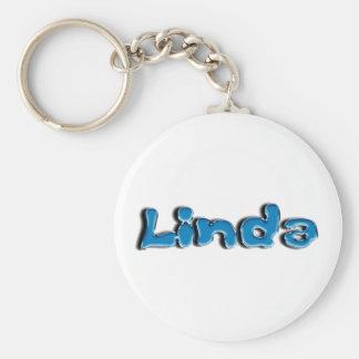 Linda Basic Round Button Keychain