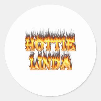 linda classic round sticker