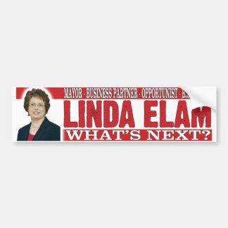 Linda Elam - Unsafe At Any Speed Bumper Sticker
