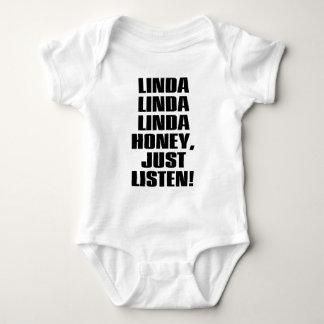 LINDA-HONEY-JUST-LISTEN BABY BODYSUIT