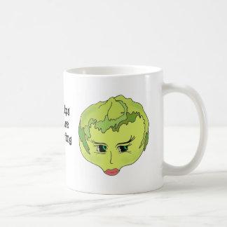Linda Lettuce Basic White Mug