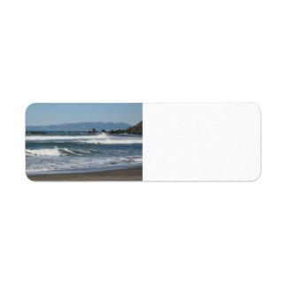 Linda Mar Beach, Ca. Custom Return Address Labels