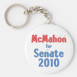Linda McMahon for Senate 2010 Star Design Basic Round Button Keychain