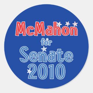 Linda McMahon for Senate 2010 Star Design Classic Round Sticker