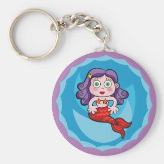 Linda sirenita. Sirena, Mermaid. Keychain