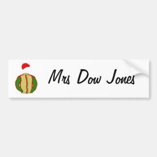 lindalarge, señora Dow Jones Pegatina Para Auto