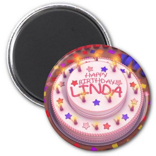 Linda's Birthday Cake Magnet
