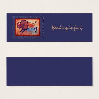 Lindas Buffalo Blue Background Mini Business Card