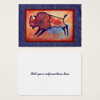 Lindas Buffalo Faux Denim Business Card