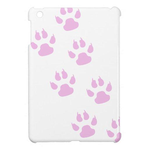 Lindas Huellitas de   color Rosa iPad Mini Fundas