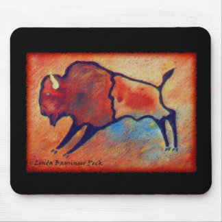 Linda's Stylized Buffalo Mouse Pad