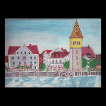 Lindau Germany Waterfront, Bodensee posters