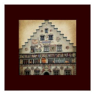 Lindau Old Town Hall, Lindau Germany Perfect Poster