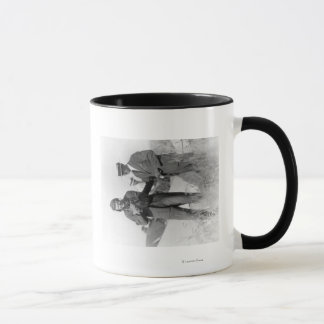 Lindbergh and Wright with Wrecked Plane Mug