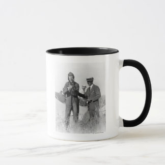 Lindbergh and Wright - Wrecked Plane Mug