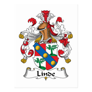 Linde Family Crest Post Card