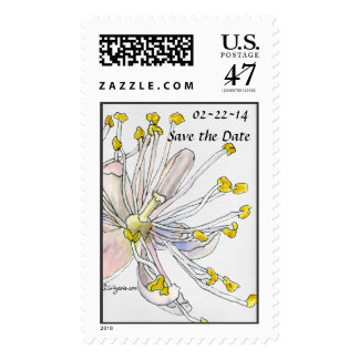 Linden Blossom Save The Date Wedding Postage