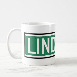 Linden Boulevard Sign Coffee Mugs