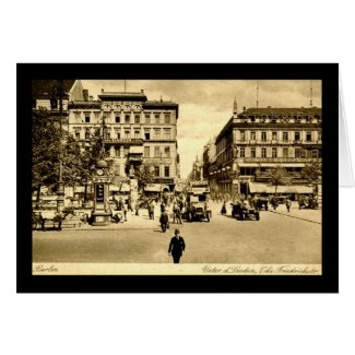 Linden & Friedrichstrasse, Berlin, Germany c1910 card