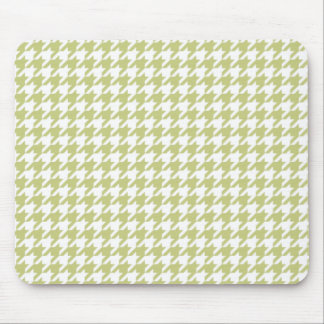 Linden Green Houndstooth Mouse Pad