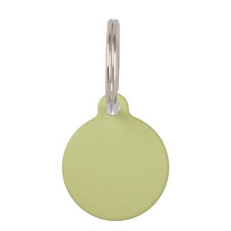 Linden Green Premium Single Color Pet Tags