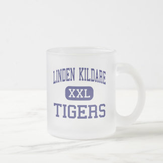 Linden Kildare - Tigers - Junior - Linden Texas 10 Oz Frosted Glass Coffee Mug