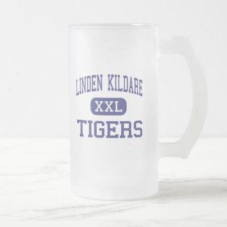 Linden Kildare - Tigers - Junior - Linden Texas 16 Oz Frosted Glass Beer Mug