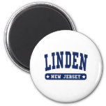 Linden New Jersey College Style tee shirts Magnets