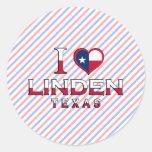 Linden, Texas Round Sticker