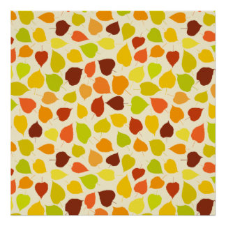 Linden tree autumn leaves poster
