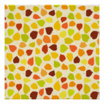 Linden tree autumn leaves posters