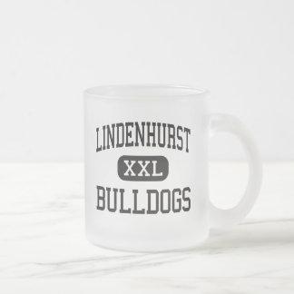 Lindenhurst - Bulldogs - High - Lindenhurst 10 Oz Frosted Glass Coffee Mug