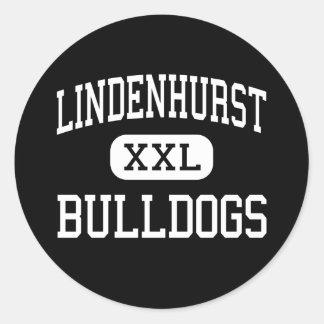 Lindenhurst - Bulldogs - High - Lindenhurst Classic Round Sticker