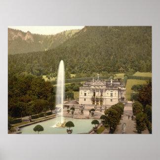 Linderhof Castle, Bavaria, Germany archival print