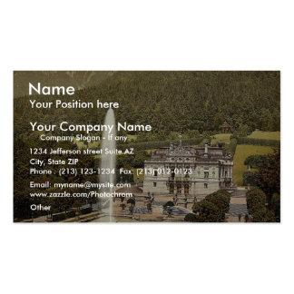 Linderhof Castle, Upper Bavaria, Germany vintage P Business Card