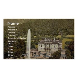 Linderhof Castle, Upper Bavaria, Germany vintage P Business Card Template