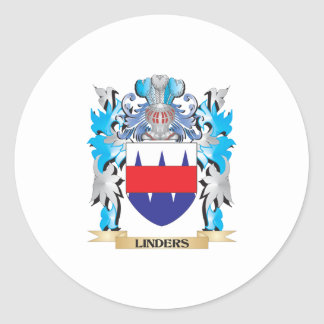 Linders Coat of Arms - Family Crest Classic Round Sticker