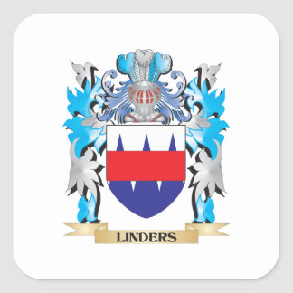 Linders Coat of Arms - Family Crest Square Sticker