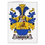 Lindholm Family Crest Greeting Card