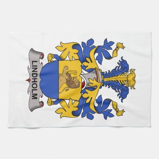 Lindholm Family Crest Kitchen Towels
