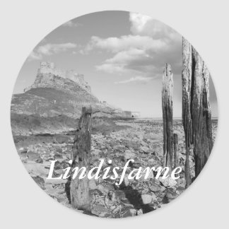 Lindisfarne Castle Classic Round Sticker