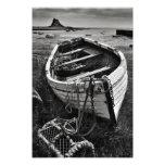 Lindisfarne Castle & Old Boat - Holy Island print Photo Print