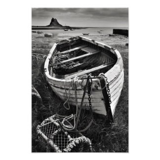 Lindisfarne Castle Old Boat - Holy Island print Photographic Print