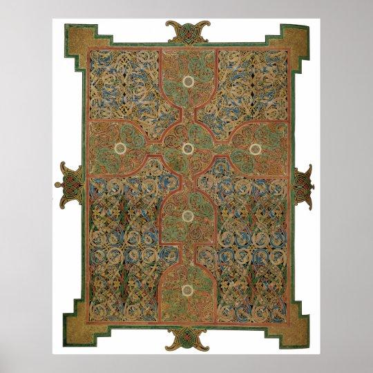Lindisfarne Celtic Cross Poster