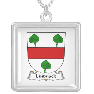 Lindnack Family Crest Square Pendant Necklace