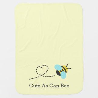 Lindo al igual que abeja, para los bebés mantita para bebé