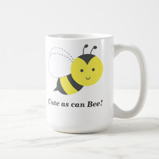 Lindo al igual que abeja taza