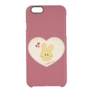 Lindo algún conejito para amar adorno del corazón funda clearly™ deflector para iPhone 6 de uncommon