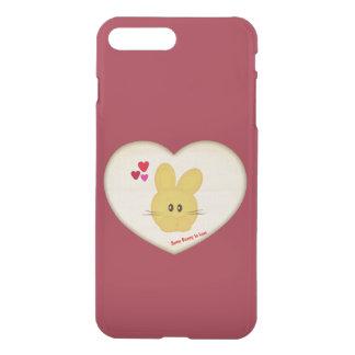 Lindo algún conejito para amar adorno del corazón fundas para iPhone 7 plus