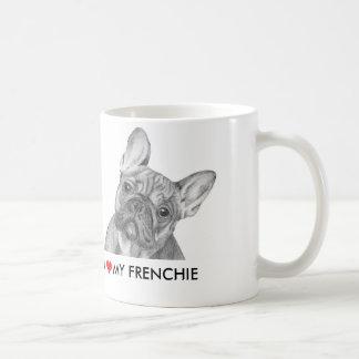 "Lindo ""amo mi taza del dogo francés de Frenchie"""